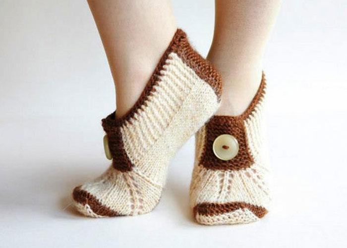 вязание спицами носки тапочки схемы. как связать платье 52-54 размера реглан сверху спицами