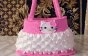Tığ İşi Kedili Çanta Modeli (Hello kitty )