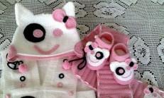 Hayvan Figürlü Bebek Atkı ve Şapkaları