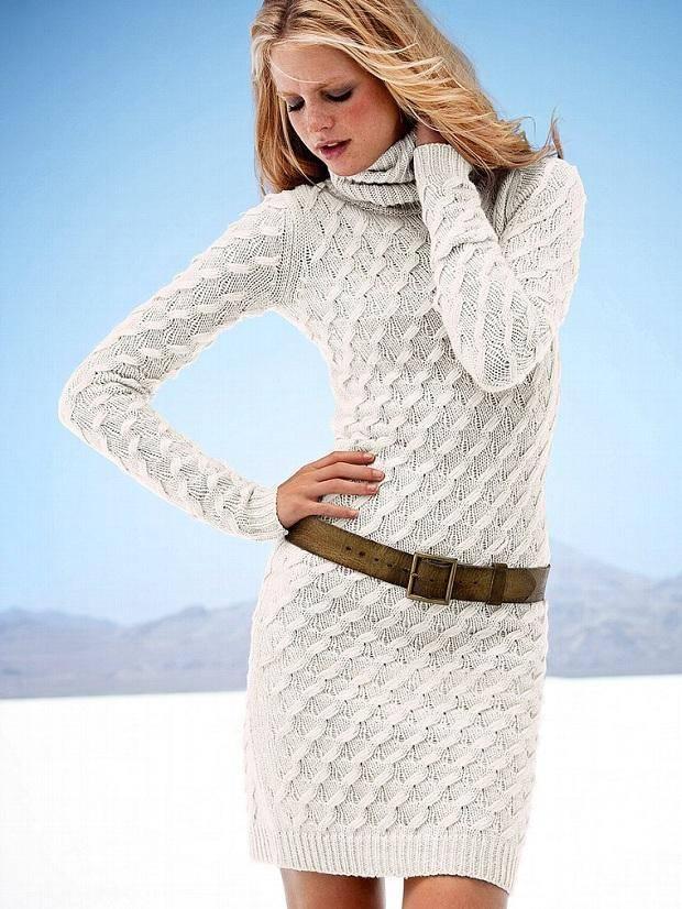 f63a269817846 Kışlık Örgü Bayan Elbise Modelleri 2014   Örgü Bahçem
