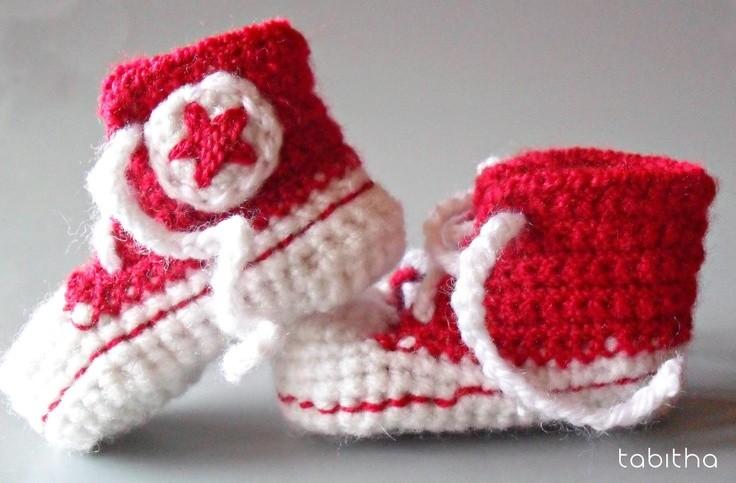 bebek converse örgü modelleri