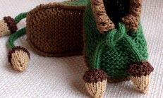 Yeşil Bağcıklı Şık Bir Bebek Patik Modeli