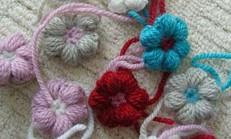 Tığ İşi Fıstık Çiçek İle Battaniye Modeli