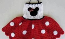 Tığ İşi Miki Kız Bebek Elbise Modeli Siparişi