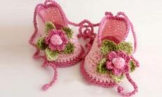 Sevimli Örgü Bebek Patik Örnekleri
