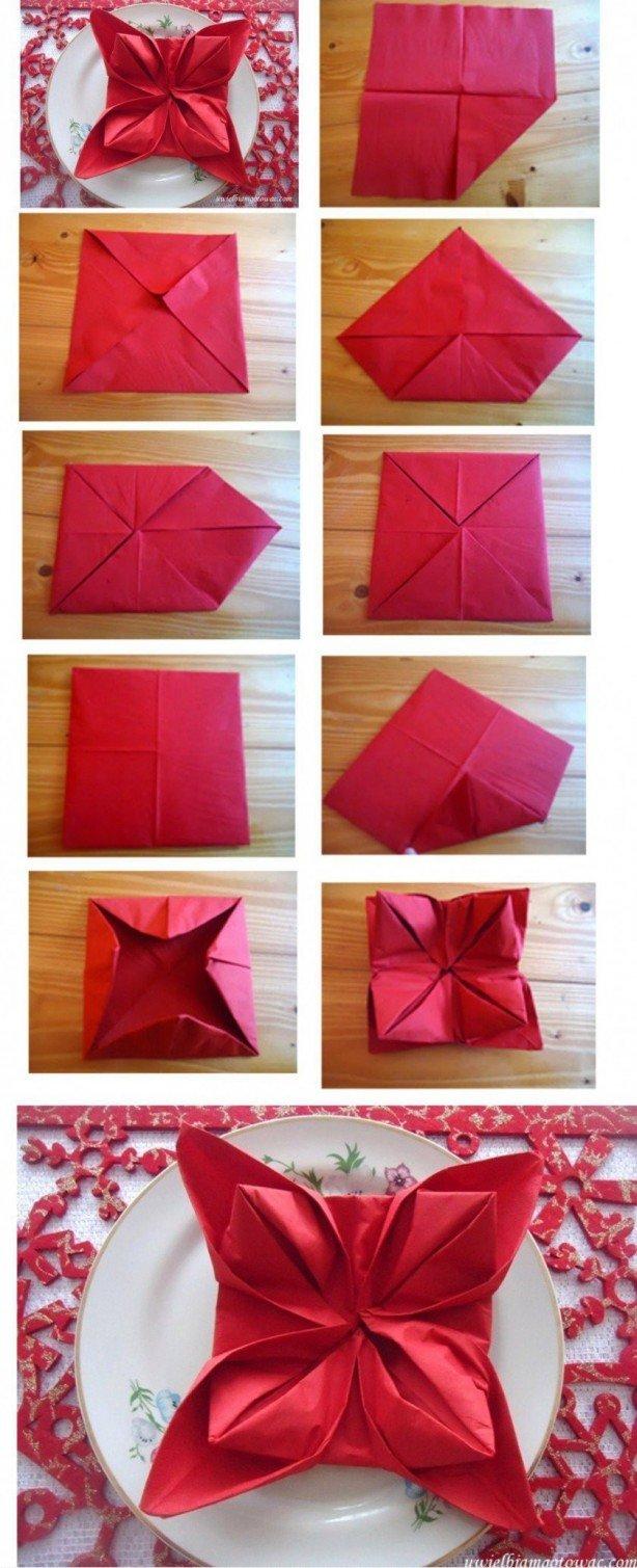 Как сделать салфетки на стол-фото