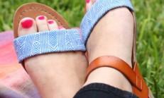 Kendin Yap Renkli Sandalet Ayakkabı Projesi