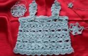 Kar Tanesi Motifi İle Askılı Örgü Bebek Bluzu Yapımı