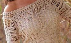 Seçilmiş Desenlerden Dantel Bluz Modeli Ve Şeması