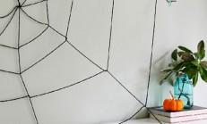 Duvarlarınız İçin İplerle Örümcek Ağı Dekorasyonu
