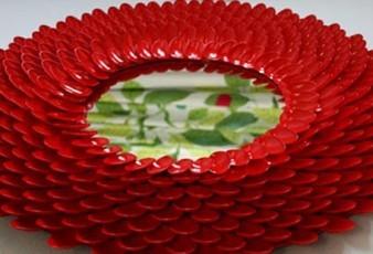 Plastik Kaşıklardan Dekoratif Ayna Yapımı ( Dıy project )