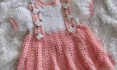 Elişi Örgü Çocuk Elbise Modelleri