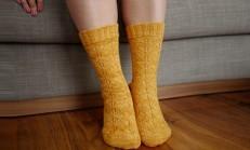 El Örgüsü Kışlık Örgü Çorap Modelleri