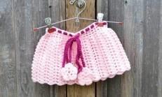Kız Çocuklarına Elişi Örgü Bebek Etek Örnekleri
