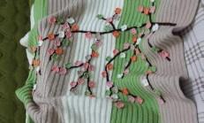 Bahar Dalı Örgü Bebek Battaniyesi Yapımı