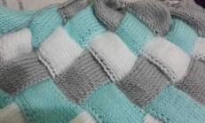 Kalın Bulmaca Örgü Battaniye Modeli