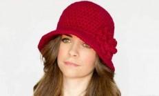 Çan Şeklinde Kırmızı Örgü Şapka Modeli Ve Yapımı