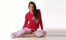 Ekoseli Bayan Pijama Modelleri