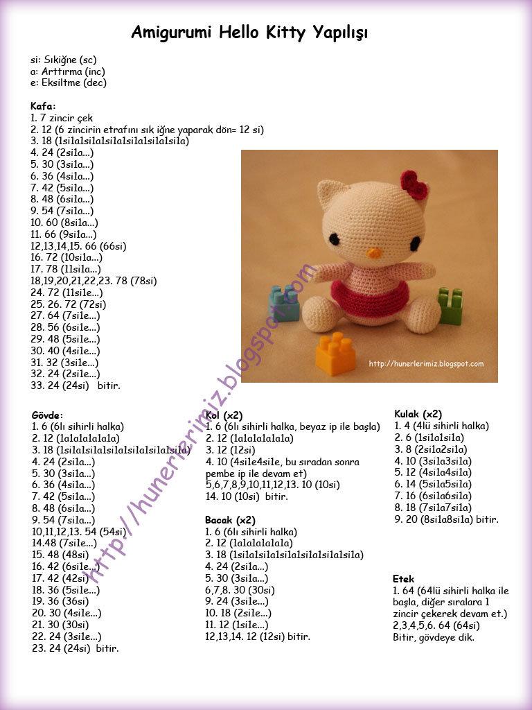 Amigurumi sarı şapkaşı örgü oyuncak tavşancık modeli tarifi ... | 1024x768