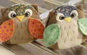 Parça Keçe Ve Kumaşlardan Baykuş Modeli Çanta Yapımı