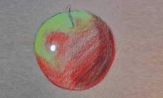 Pastel Boya Kullanarak Elma Resmi Çizme