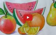 Meyve Resimleri Nasıl Çizilir ? ( Videolu Anlatım )