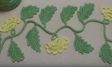 İrlanda Örgü Modeli Tığ İşi Yaprak Yapımı ?