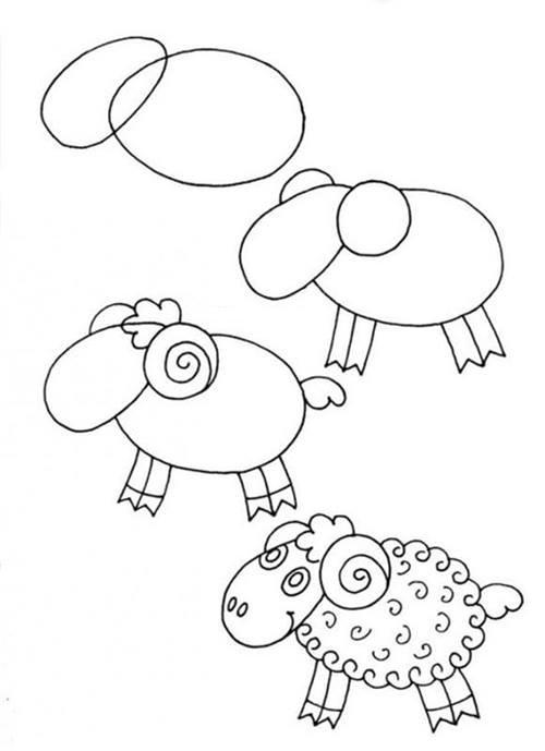 Kolay Ve Pratik Koyun Kuzu Ve Koç Nasıl çizilir örgü Bahçem
