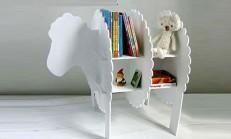 Ahşap Dekoratif Kuzu Kitaplık Yapımı