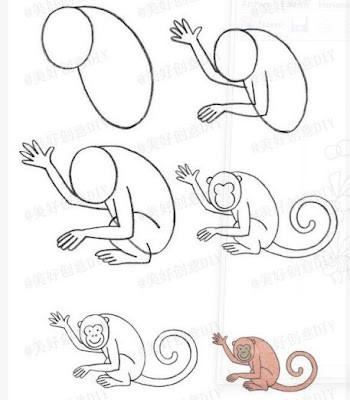 Kolay Sempanze Ve Maymun Nasil Cizilir Orgu Bahcem